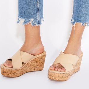 Nude wedge Sandel